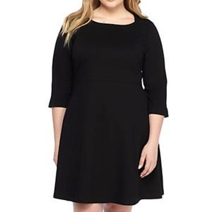NWT The Limited Black Ponte Dress 24W